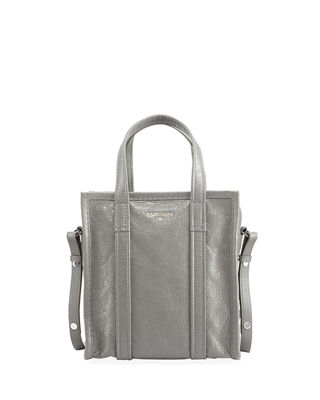 Arena Leather Bazar Extra-Small Shopper Tote Bag, Gray
