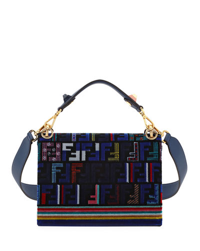 6494d3c2aac1 Fendi Kan I Medium Velvet Shoulder Bag