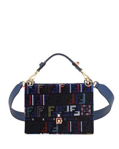 2317b35bd0fb Fendi Kan I Medium Velvet Shoulder Bag