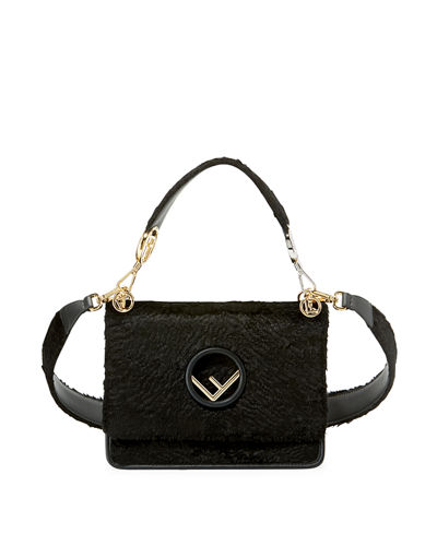 Kan I Small Textured Velvet Shoulder Bag