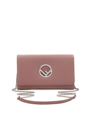LOGO EMBOSSED FLAP FRONT SHOULDER BAG