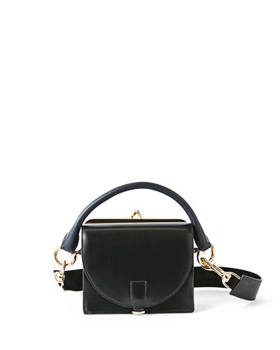 Mini Leather Flap-Top Satchel Bag