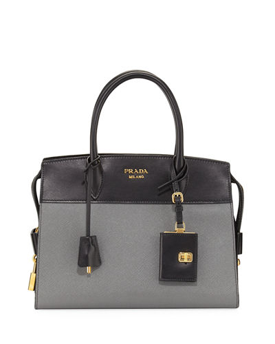 4261bef29d5f new zealand prada esplanade medium leather city satchel bag af824 556ad