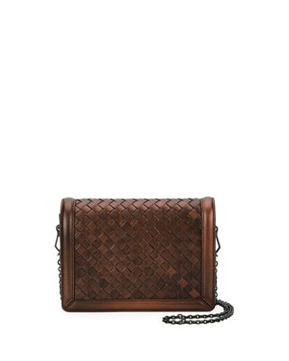 Montebello Mini Intrecciato Wallet On Chain by Bottega Veneta