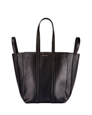 Laundry Cabas 4-Strap Leather Extra Large Tote Bag, Noir