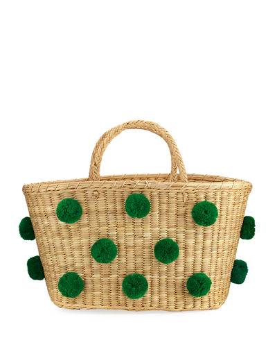 Joana Medium Raffia Tote Bag