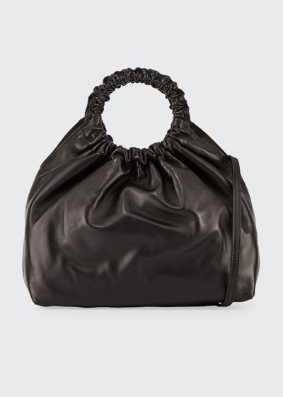 Medium Double Circle Bag in Lamb Leather