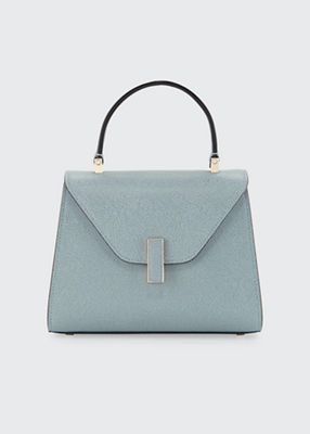 VALEXTRA Iside Mini Leather Satchel Bag in Polvere