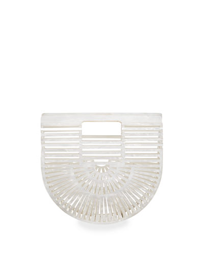 Ark Mini Glittered Acrylic Clutch Bag