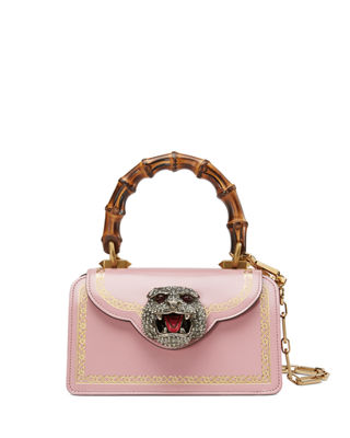 Mini Thiara Top Handle Leather Satchel - Red, Carm Rose Oro Mult
