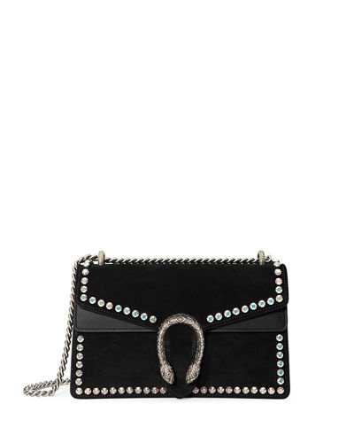 69672dadf95 Gucci Dionysus Small Suede Shoulder Bag with Crystals