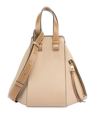 Medium Hammock Calfskin Leather Shoulder Bag - Beige, Sand