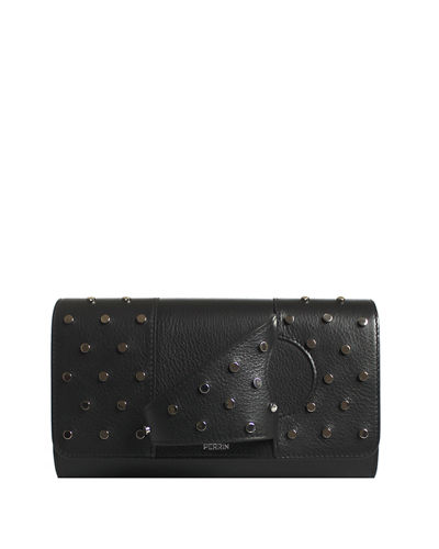 L Asymétrique Leather Clutch Bag