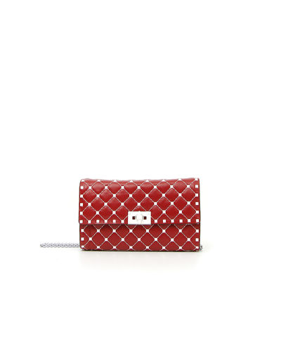 Free Rockstud Spike Small Quilted Napa Leather Shoulder Bag