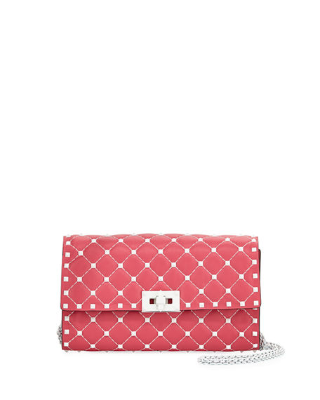 Free Rockstud Spike Small Belt Bag in Shadow Pink Nappa Leather Valentino vlM89fAovT