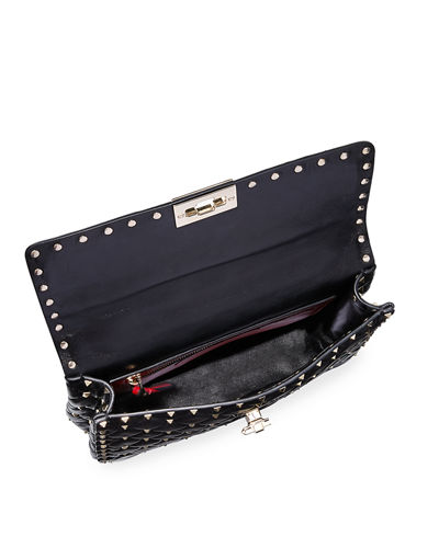 Rockstud Spike Medium Quilted Top-Handle Bag
