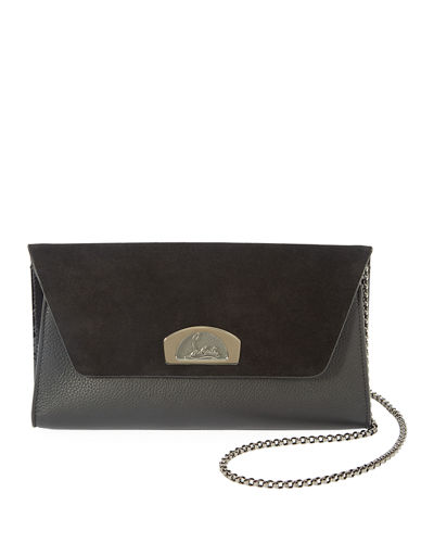 Vero Dodat Suede/Leather Clutch Bag