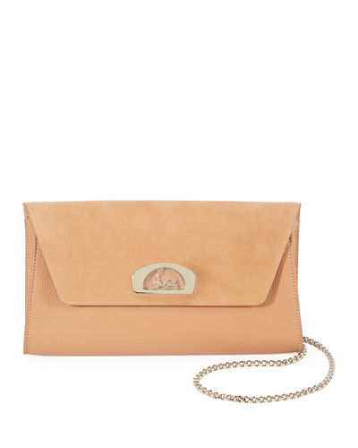 Christian Louboutin Vero Dodat Suede/Leather Clutch Bag