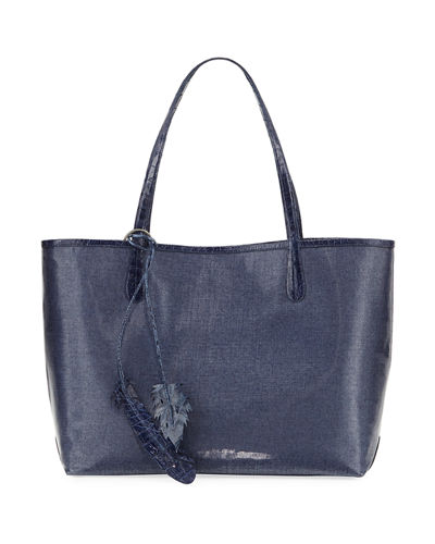 Erica Medium Linen Leaf Tote Bag
