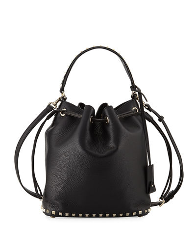 3e313ff3965 Valentino Garavani Rockstud Large Leather Bucket Bag