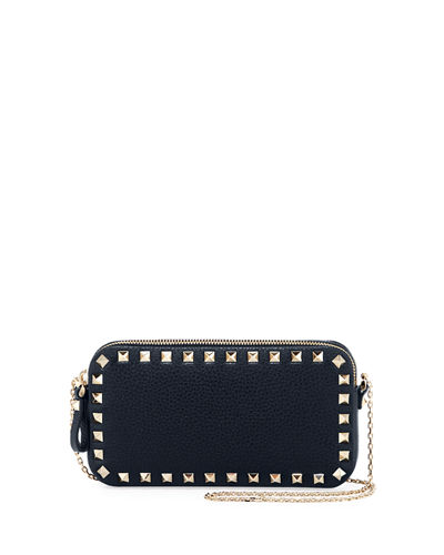 Rockstud Leather Chain Shoulder Pouch Bag