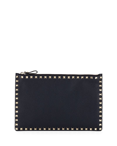 Rockstud Large Zip Pouch Bag