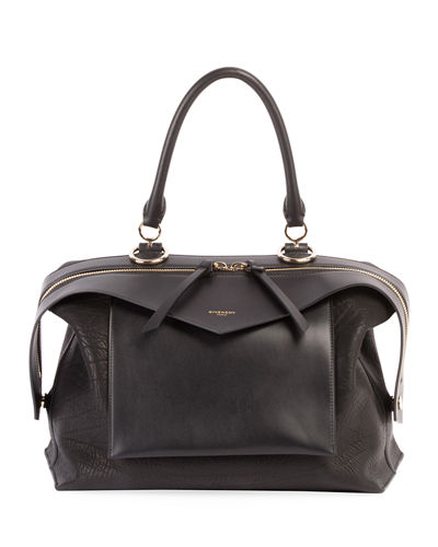 Sway Medium Leather Satchel Bag