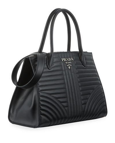 aeb561263a6273 Prada Diagramme Tote with Removable Crossbody Strap