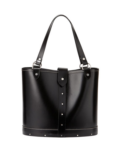 Studded Calfskin Bucket Bag