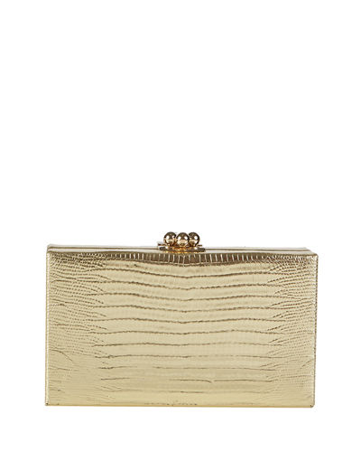 Jean Lizard Framed Clutch Bag