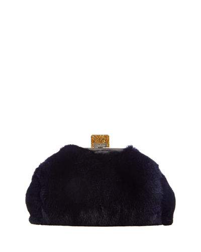 Small Parker Rabbit-Fur Clutch Bag