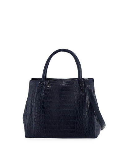 Small Crocodile Carryall Tote Bag