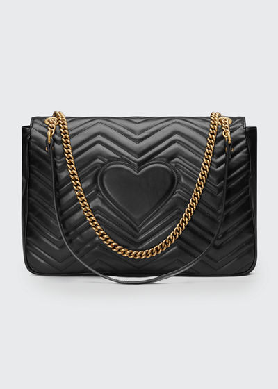 765f5717ebd Gucci GG Marmont Large Chevron Quilted Leather Shoulder Bag