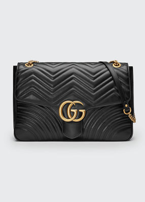 Gg Marmont Large Quilted Leather Shoulder Bag - Beige Gucci