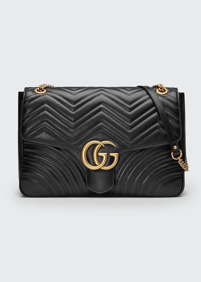 8f61386a9 Gucci GG Marmont Large Chevron Quilted Leather Shoulder Bag