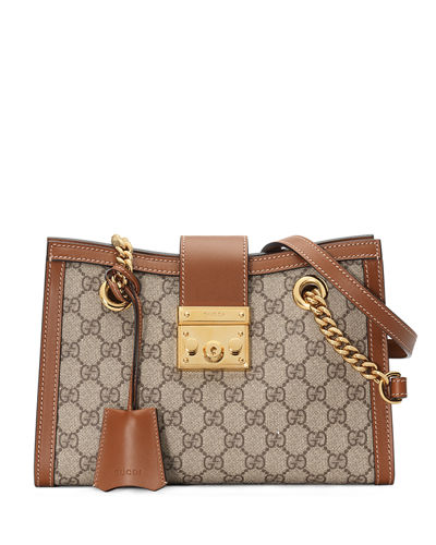 31f8240e70 Gucci Padlock Small GG Supreme Canvas Shoulder Bag