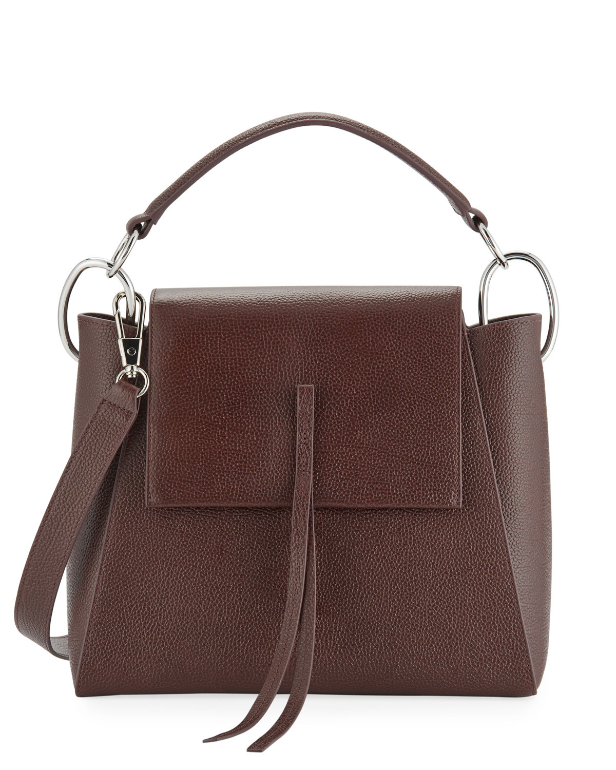 Leigh Leather Top-Handle Satchel Bag