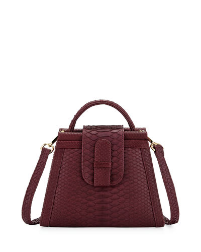 Violy Python Top-Handle Bag