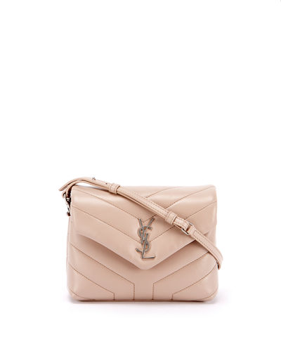 affe1a1802d1 Loulou Monogram YSL Mini V-Flap Calf Leather Crossbody Bag - Nickel Oxide  Hardware Quick Look. NEUTRAL. Saint Laurent