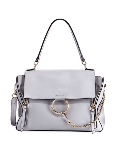 Chloe Faye Day Mixed Flap Medium Shoulder Bag