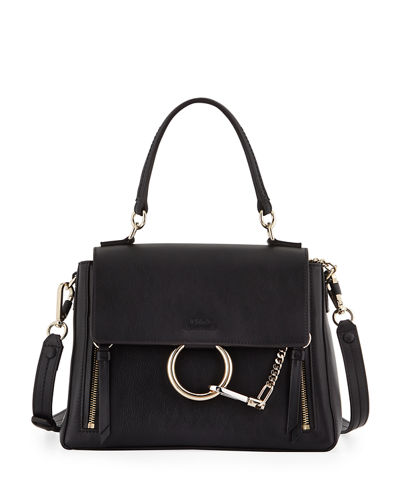 e84da283d6 Chloe Faye Day Small Pebbled Ring Shoulder Bag