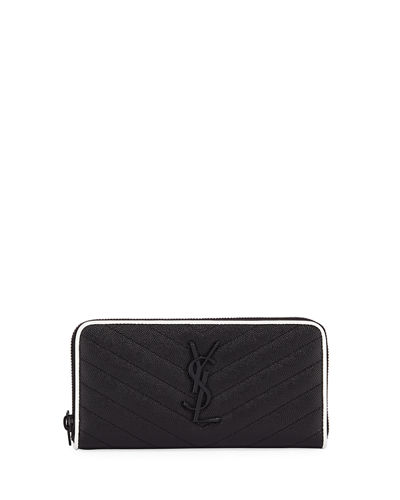 Monogram Grain de Poudre Calfskin Zip-Around Wallet