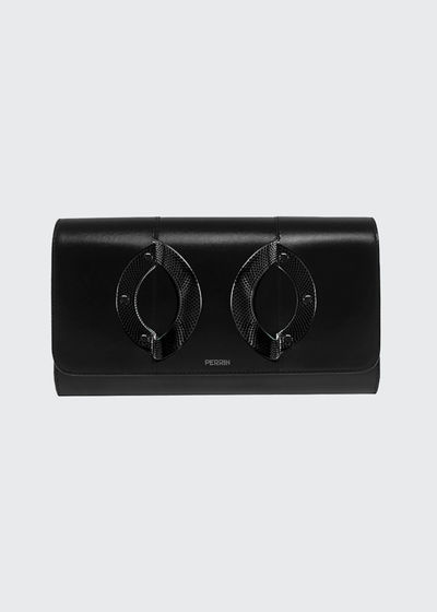 La Croisiere Leather Clutch Bag
