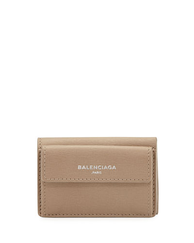 Essential Mini Leather Flap Wallet