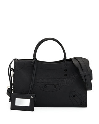 Balenciaga Blackout City Aj Handbag Leather Mini MuT7Xlu76d