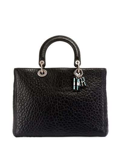 Dior Lady Dior Canyon Grained Lambskin Handbag with Mosaic Motif Charms de4385273ea7f