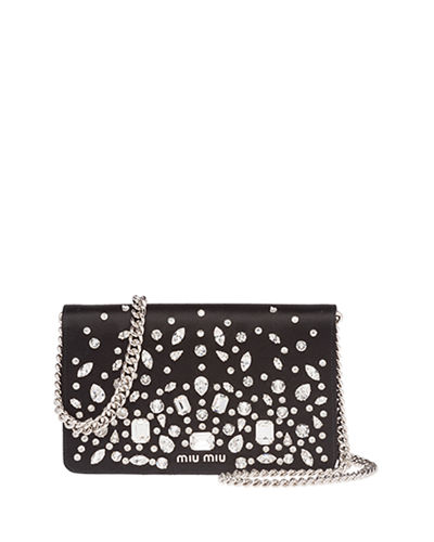 Delice Crystal-Embellished Wallet-on-Chain