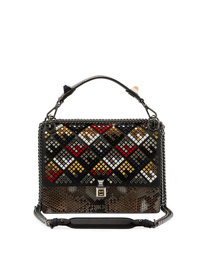 Kan I Python Chain Shoulder Bag