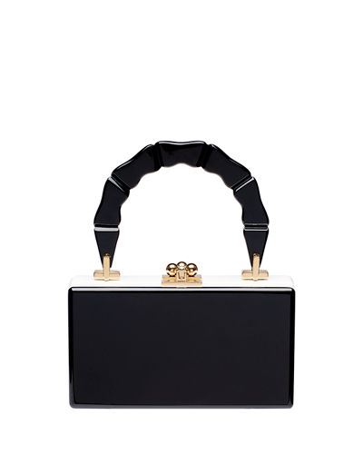 Jean Bamboo Top-Handle Clutch Bag