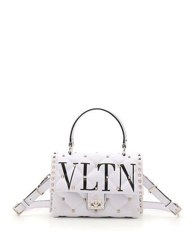 VLTN Spike Medium Top-Handle Shoulder Bag